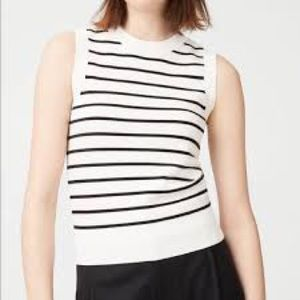 Club Monaco Jacqui Sweater - White & Black - Small